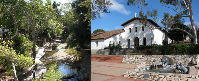 Mission Plaza and Creek Image